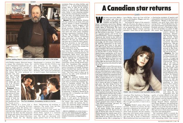 Article Preview: A Canadian star returns, February 1986 | Maclean's
