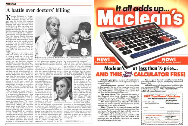 Article Preview: A battle over doctors' billing, February 1986 | Maclean's