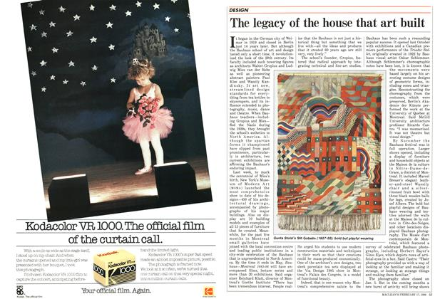 Article Preview: The legacy of the house that art built, February 1986 | Maclean's