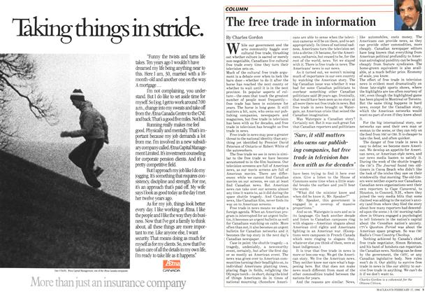 Article Preview: The free trade in information, February 1986 | Maclean's