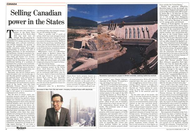Article Preview: Selling Canadian power in the States, February 1986 | Maclean's
