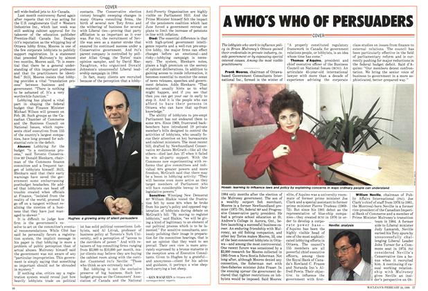 Article Preview: A WHO'S WHO OF PERSUADERS, February 1986 | Maclean's