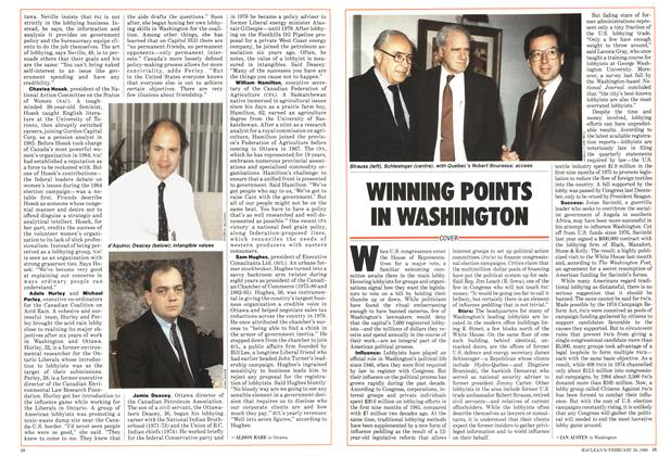 Article Preview: WINNING POINTS IN WASHINGTON, February 1986 | Maclean's