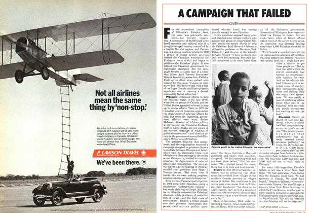Article Preview: A CAMPAIGN THAT FAILED, February 1986 | Maclean's