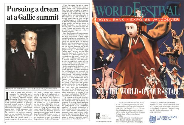 Article Preview: Pursuing a dream at a Gallic summit, February 1986 | Maclean's