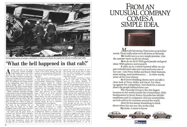 Article Preview: 'What the hell happened in that cab?', February 1986 | Maclean's