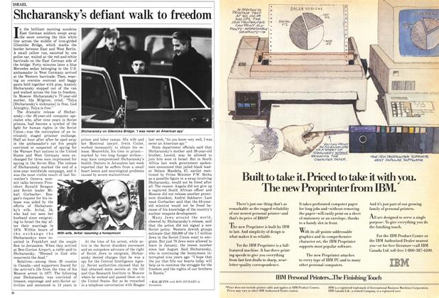 Article Preview: Shcharansky's defiant walk to freedom, February 1986 | Maclean's