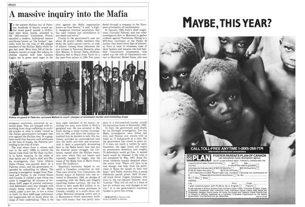 Article Preview: A massive inquiry into the Mafia, February 1986 | Maclean's