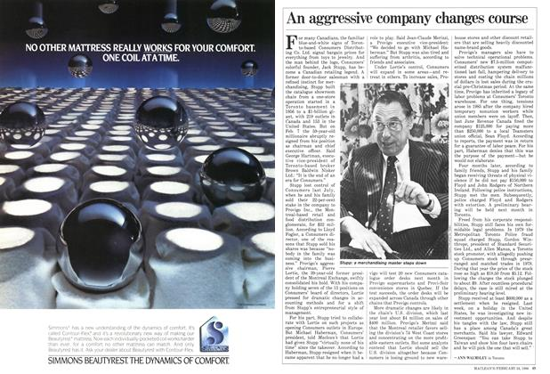 Article Preview: An aggressive company changes course, February 1986 | Maclean's