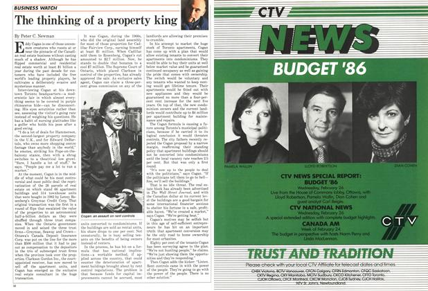 Article Preview: The thinking of a property king, February 1986 | Maclean's