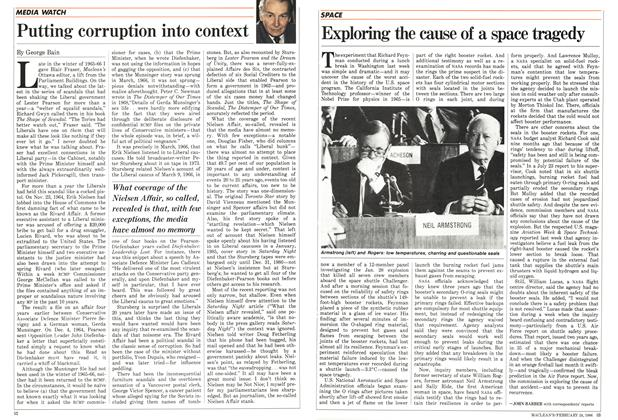 Article Preview: Putting corruption into context, February 1986 | Maclean's