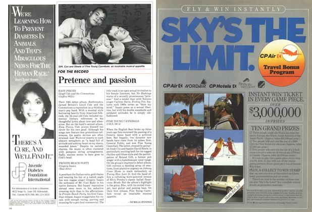 Article Preview: Pretence and passion, February 1986 | Maclean's
