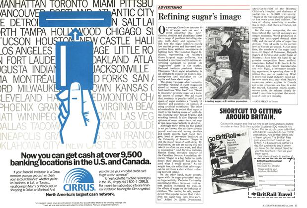 Article Preview: Refining sugar's image, February 1986 | Maclean's