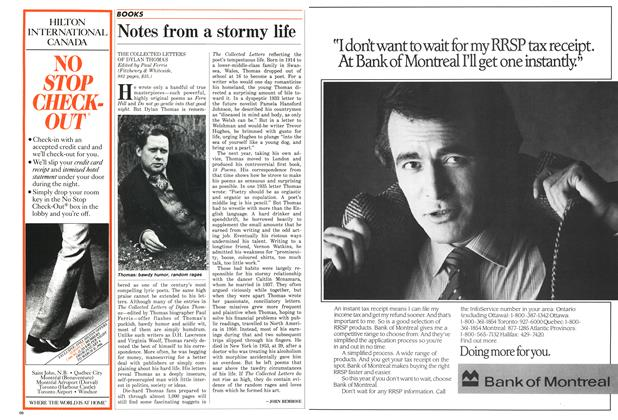 Article Preview: Notes from a stormy life, February 1986 | Maclean's