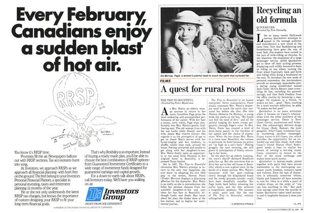 Article Preview: A quest for rural roots, February 1986 | Maclean's