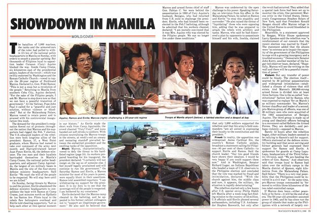 Article Preview: SHOWDOWN IN MANILA, March 1986 | Maclean's