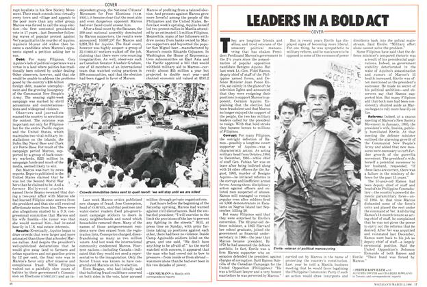 Article Preview: LEADERS IN A BOLD ACT, March 1986 | Maclean's