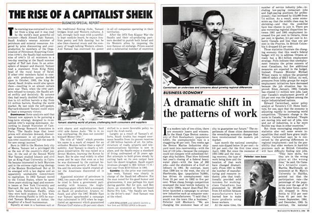 Article Preview: A dramatic shift in the patterns of work, March 1986 | Maclean's