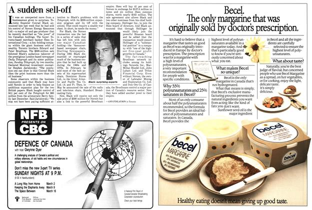 Article Preview: A sudden sell-off, March 1986 | Maclean's