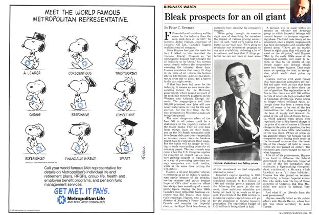 Article Preview: Bleak prospects for an oil giant, March 1986 | Maclean's