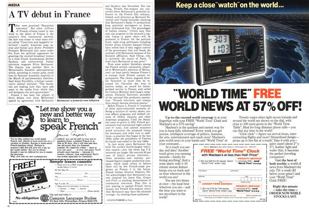 Article Preview: A TV debut in France, March 1986 | Maclean's