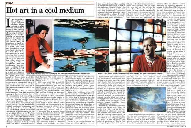 Article Preview: Hot art in a cool medium, March 1986 | Maclean's