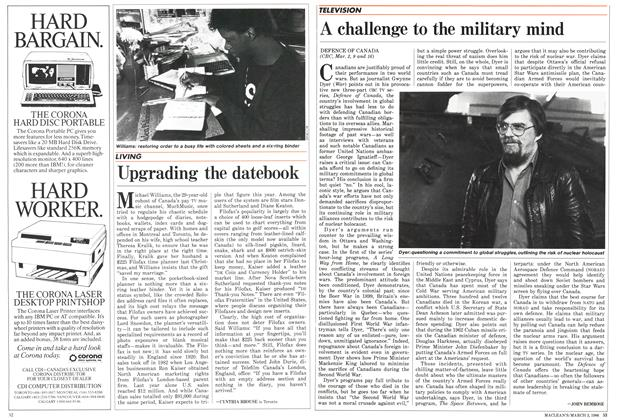 Article Preview: A challenge to the military mind, March 1986 | Maclean's