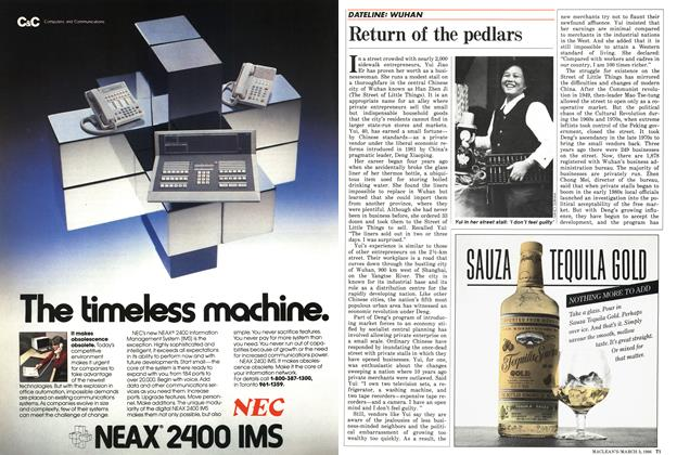 Article Preview: Return of the pedlars, March 1986 | Maclean's