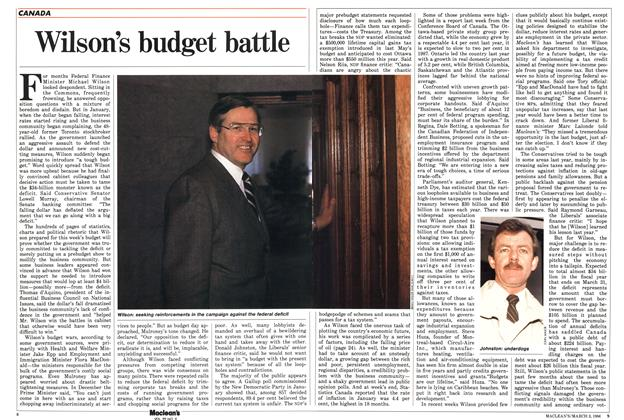 Article Preview: Wilson's budget battle, March 1986 | Maclean's