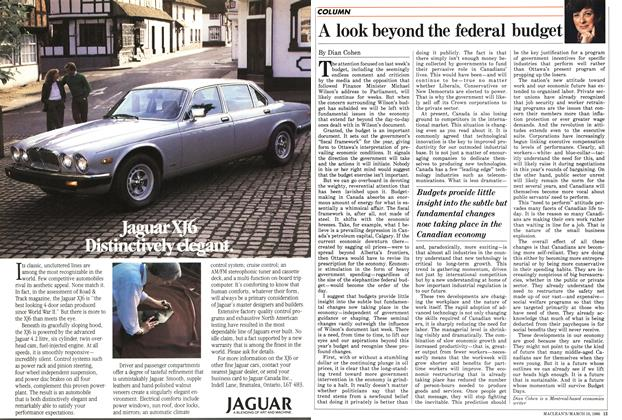 Article Preview: A look beyond the federal budget, March 1986 | Maclean's