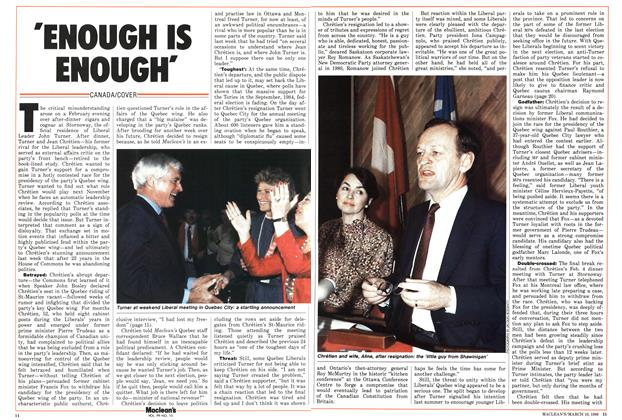 Article Preview: 'ENOUGH IS ENOUGH', March 1986 | Maclean's