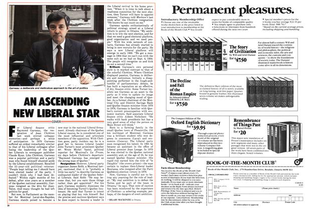 Article Preview: AN ASCENDING NEW LIBERAL STAR, March 1986   Maclean's