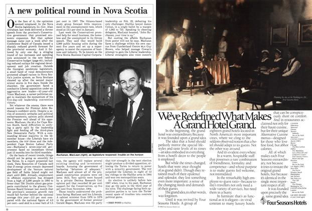 Article Preview: A new political round in Nova Scotia, March 1986 | Maclean's