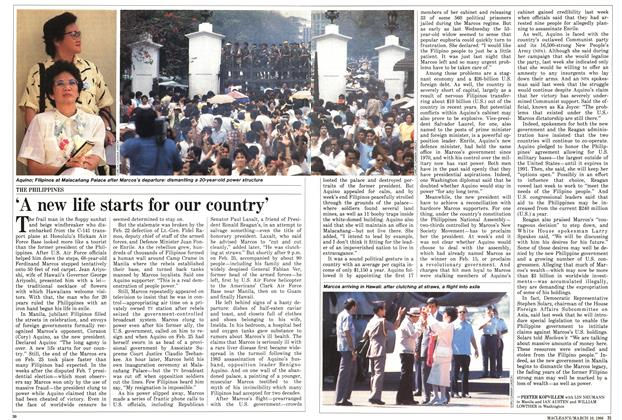 Article Preview: 'A new life starts for our country', March 1986   Maclean's