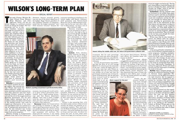 Article Preview: WILSON'S LONG TERM PLAN, March 1986 | Maclean's