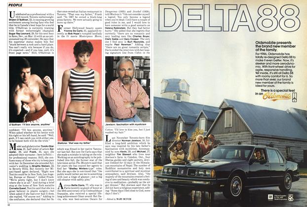 Article Preview: The globe-trotting Stallone, March 1986 | Maclean's
