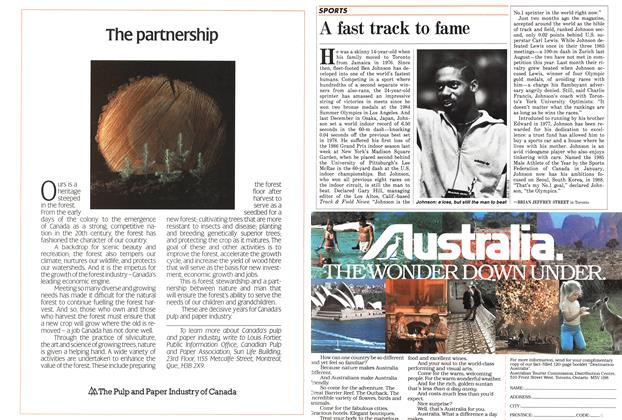 Article Preview: A fast track to fame, March 1986 | Maclean's