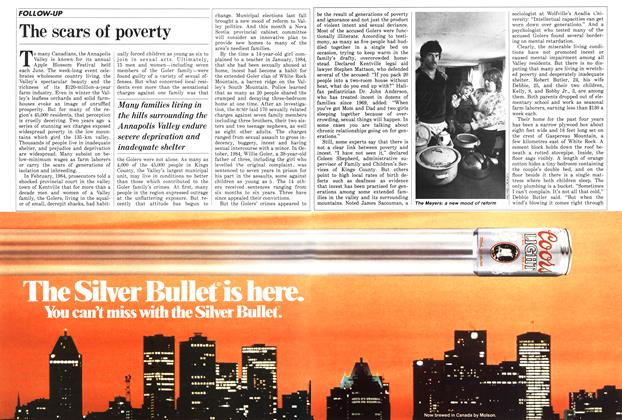 Article Preview: The scars of poverty, March 1986 | Maclean's