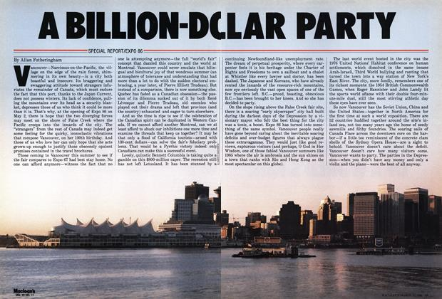 Article Preview: A BILLION-DO LLAR PARTY, March 1986 | Maclean's