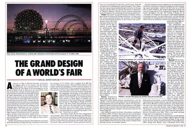 Article Preview: THE GRAND DESIGN OF A WORLD'S FAIR, March 1986 | Maclean's
