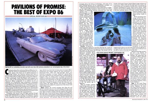 Article Preview: PAVILIONS OF PROMISE: THE BEST OF EXPO 86, March 1986 | Maclean's