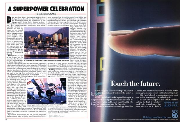 Article Preview: A SUPERPOWER CELEBRATION, March 1986 | Maclean's