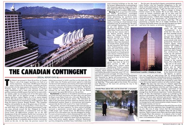 Article Preview: THE CANADIAN CONTINGENT, March 1986 | Maclean's