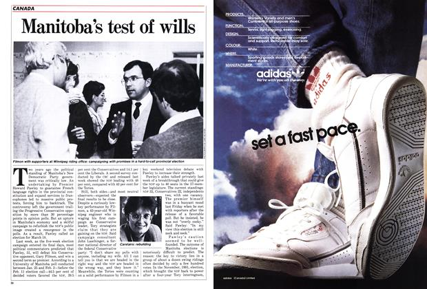 Article Preview: Manitoba's test of wills, March 1986 | Maclean's