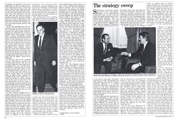Article Preview: The strategy sweep, March 1986 | Maclean's