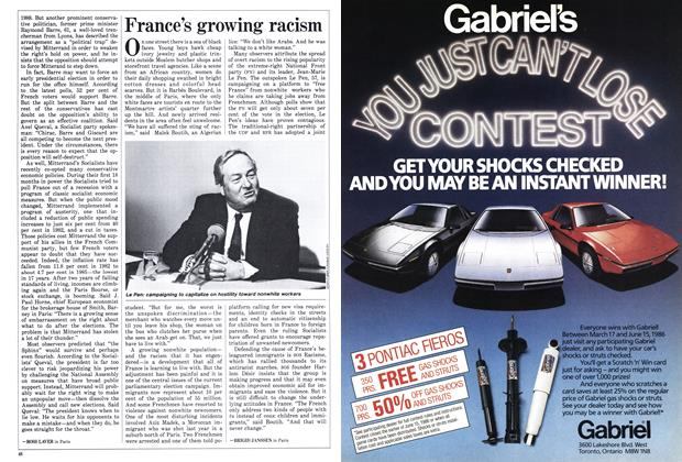 Article Preview: France's growing racism, March 1986 | Maclean's