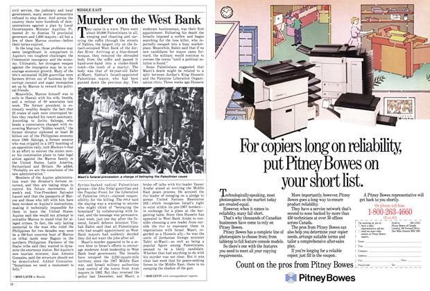 Article Preview: Murder on the West Bank, March 1986 | Maclean's