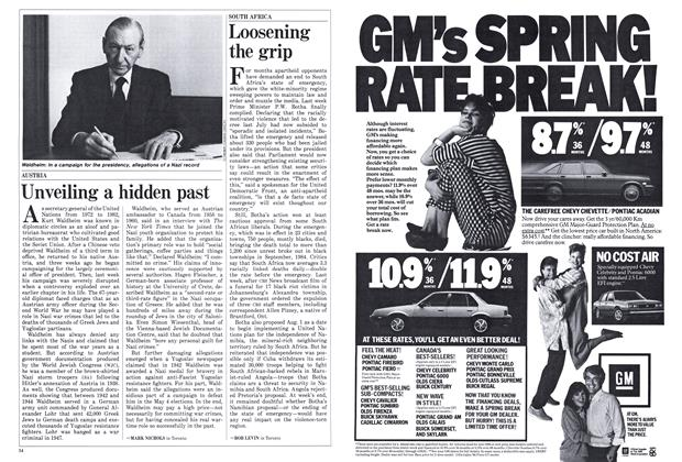 Article Preview: Unveiling a hidden past, March 1986 | Maclean's