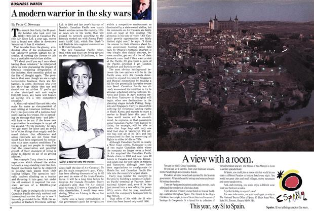 Article Preview: A modern warrior in the sky wars, March 1986 | Maclean's