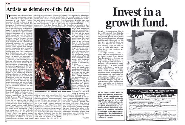 Article Preview: Artists as defenders of the faith, March 1986 | Maclean's